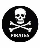 Feest pirates sticker met doodskop