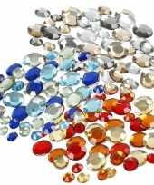 Feest plak diamantjes steentjes mix set 1080 stuks