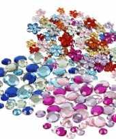 Feest plak diamantjes steentjes mix set 972 stuks