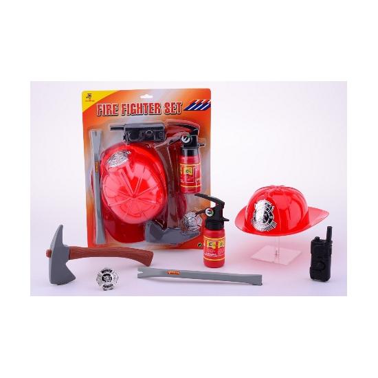 Feest plastic brandweermannen set