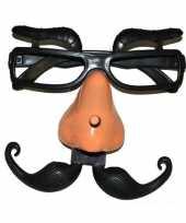 Feest plastic bril met wenkbrauwen
