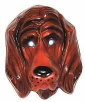Feest plastic honden masker voor volwassenen