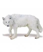 Feest plastic witte wolf 9 cm