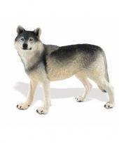 Feest plastic wolf 13 cm