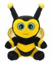 Feest pluche bijen knuffel 22 cm