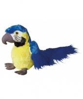 Feest pluche blauwe papegaai 30 cm