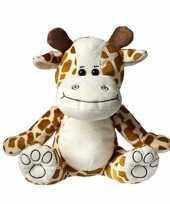 Feest pluche giraffe knuffel 25 cm