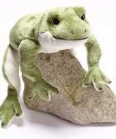 Feest pluche groene kikker knuffel 30 cm