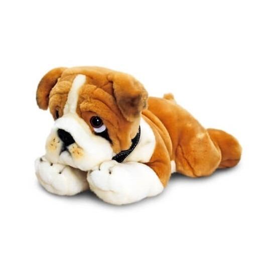 Feest pluche knuffel bulldog 35 cm