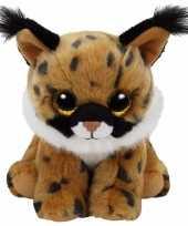 Feest pluche knuffel lynx ty beanie larry 33 cm