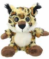 Feest pluche lynx knuffel 21 cm