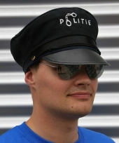 Feest politie accessoires verkleedset pet en bril