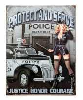 Feest politie decoratie bord