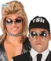 Feest politie zonnebril spiegelglazen 10078335