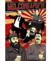 Feest politieke poster communisme