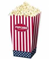 Feest popcorn bakjes usa 24 stuks