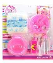 Feest poppen baby accessoires set