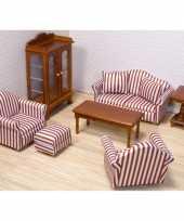 Feest poppenhuis woonkamer meubel set