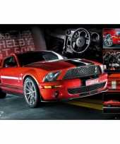 Feest poster rode ford mustang 61 x 91 5 cm