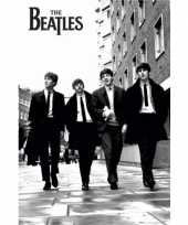 Feest poster the beatles zwart wit 61 x 91 5 cm