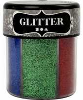 Feest potje glitters met felle kleuren