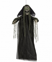 Feest pratende skelet horror pop met licht 195 cm