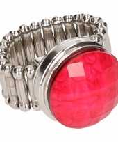 Feest prinsessen chunk ring roze steen voor volwassenen