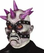 Feest punk zombie horror masker van latex