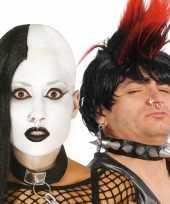 Feest punker nep piercings zilver 8x