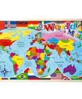 Feest puzzel met landen 108 delig