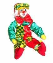 Feest pvc wanddecoratie clowns 50 cm