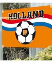 Feest raamvlag met voetbal print