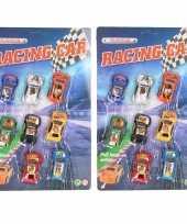 Feest race autootjes 8 stuks
