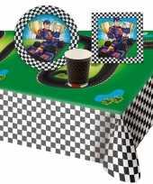 Feest race formule 1 thema tafeldecoratie pakket 8 personen