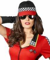 Feest racing baseball cap voor dames en heren