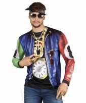 Feest rapper t-shirt met lange mouwen