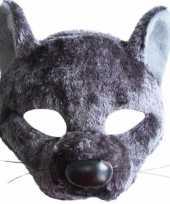 Feest ratten maskers grijs
