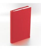 Feest rekbare schoolboeken hoes rood a5