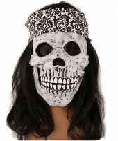 Feest rockers schedel met lang haar