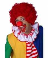 Feest rode clownspruiken