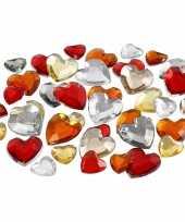 Feest rode diamanten stenen hart 10134672
