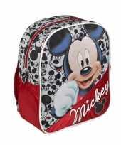 Feest rode disney mickey mouse rugtas voor kinderen