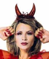 Feest rode duivel diadeem voor dames