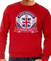 Feest rode engeland drinking team sweater heren