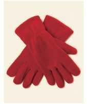 Feest rode fleece handschoenen