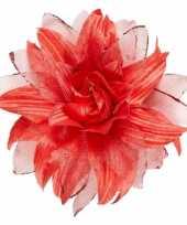 Feest rode haarbloem met glitters