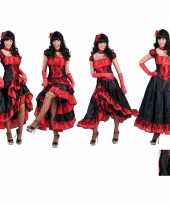 Feest rode moulin rouge jurk