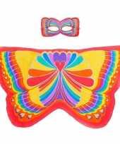 Feest rode regenboogvlinder verkleedset voor meisjes