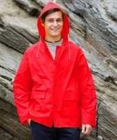 Feest rode regenjas splash voor volwassenen
