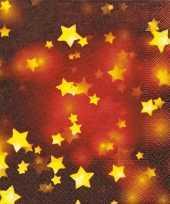 Feest rode servetten met gouden sterretjes